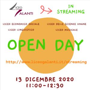 Open Day dicembre 2020